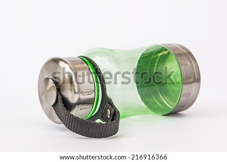 Water bottle isolated on white, To take with you to work or school.  - stock photo