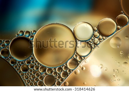 Water bubbles abstract light illumination, useful as abstract background - stock photo