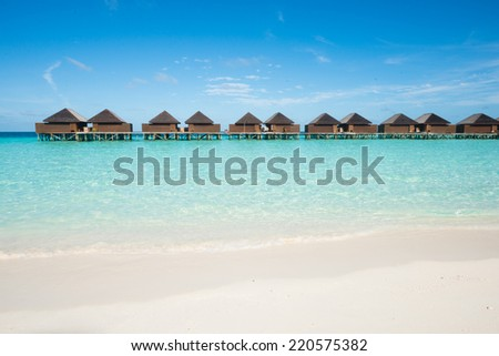 Water bungalow, Maldives - stock photo