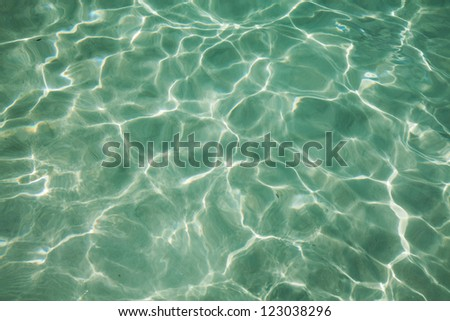 Water caustic - stock photo