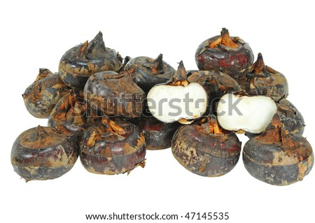 Water Chestnut Isolation - stock photo