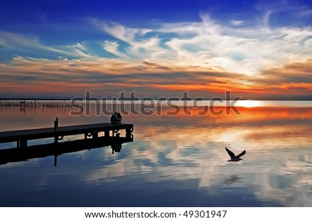 water clouds - stock photo