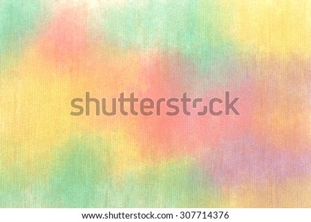 Water color background with paper texture. Abstract art hand paint - stock photo