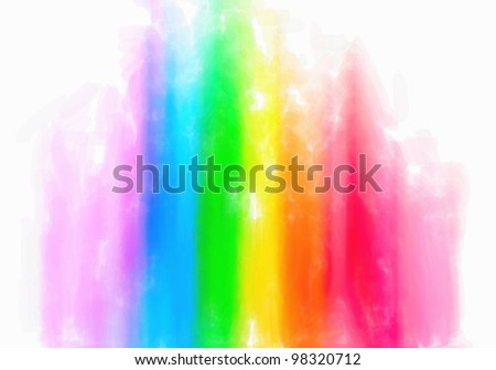 Water color color abstract equalizer on  wet background - stock photo