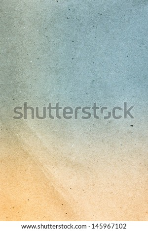 Water color on recycle blue and yellow vintage style  paper texture background. - stock photo
