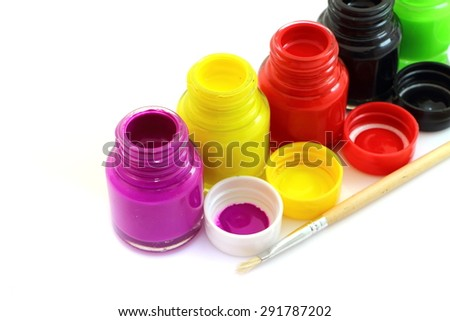 Water color paint art and colorful - stock photo