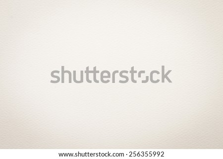 Water color paper texture background: 100-grams watercolor paper in light cream sepia tone - stock photo
