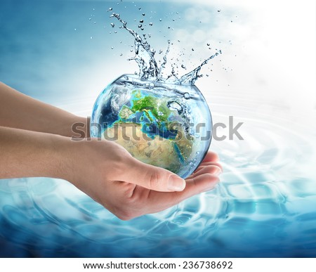 water conservation in Europe - elements of this image furnished by NASA  - stock photo