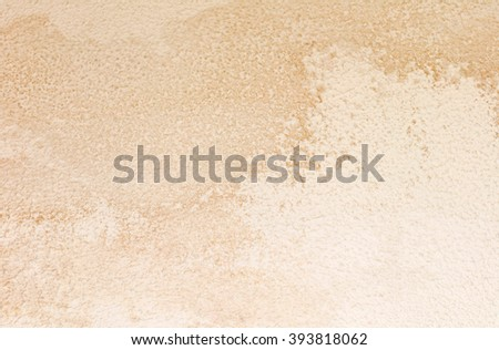 Water damaged ceiling and wall, white becomming brown - stock photo