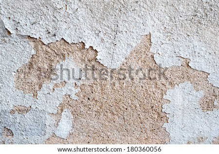 Water Damaged Peeling External Paint ,Wall texture  - stock photo