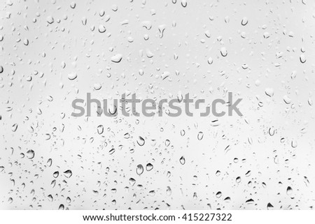 Water dorps in a window - stock photo