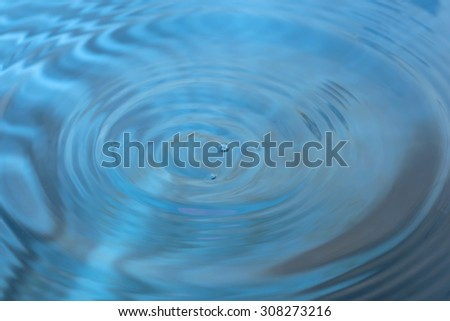 Water drop and bubble as bokeh background - stock photo