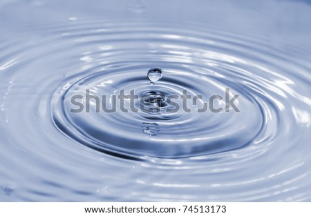 water drop, blue. See my portfolio for more - stock photo