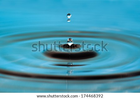 Water drop - close up - stock photo