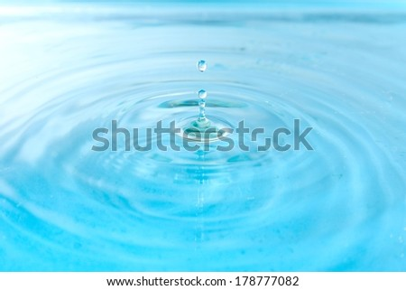 Water drop close-up - stock photo