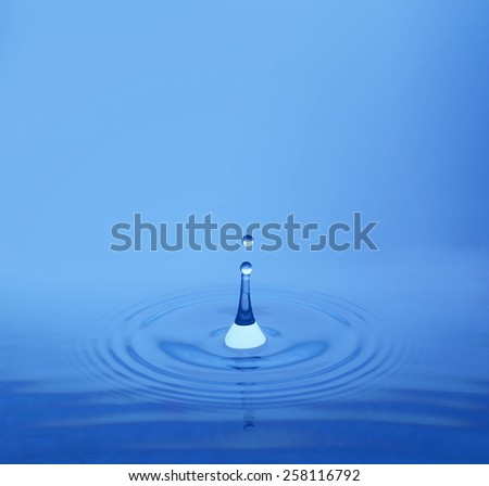 Water drop, close-up