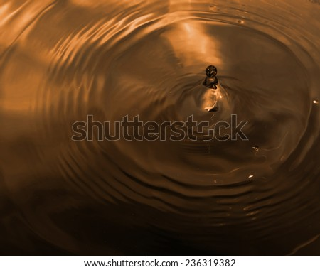 Water drop close up,The ripple of the water. - stock photo