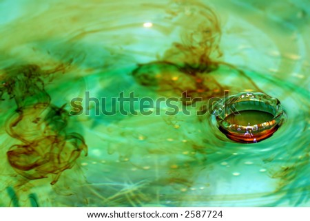 Water drop crown - stock photo