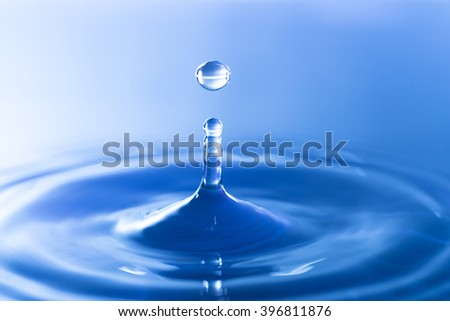 water drop dropping on water surface