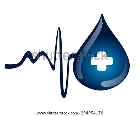 water drop - first aid - stock photo