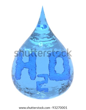 Water drop icon - stock photo