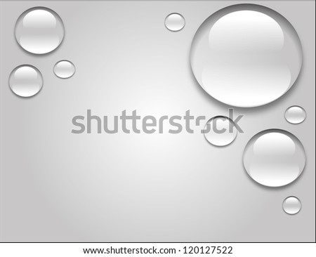 Water drop illustration - stock photo