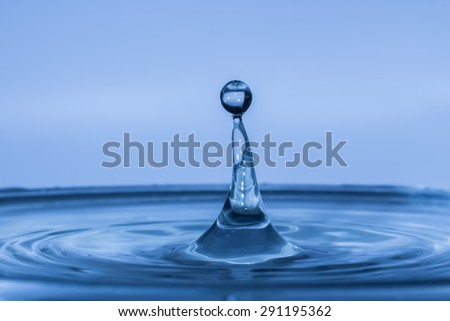 Water drop in abstract style with macro concept. It looks bright and suitable for background,backdrop,wallpaper and artwork design.