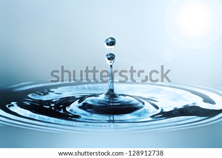 Water drop in sunlight