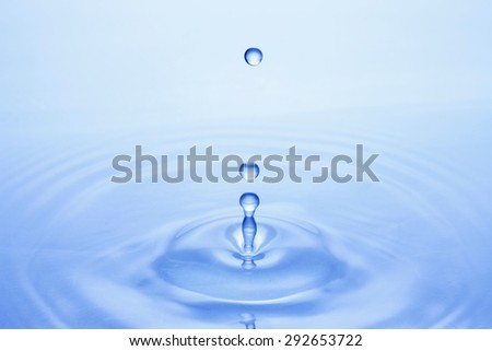 Water, drop of water, ripple