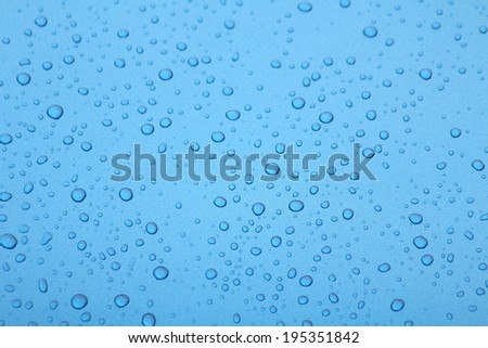 Water drop on glass - windshield rain. - stock photo