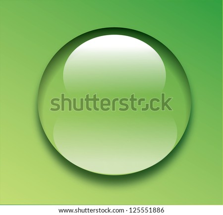 Water drop on green background illustration - stock photo