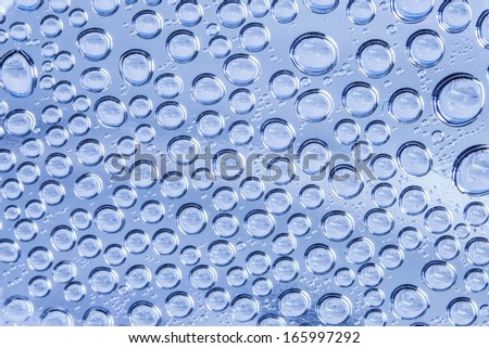 water drop on transparent surface