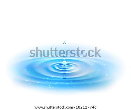 Water Drop. Raster version. - stock photo