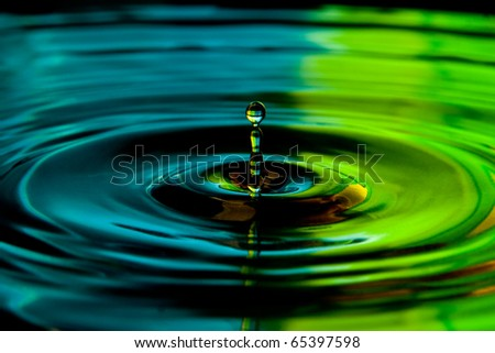 water drop splash - stock photo