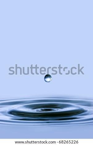 water drop splash - stock photo