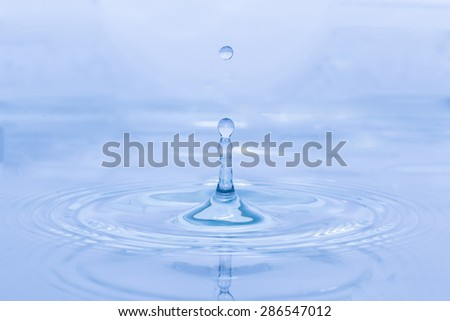 Water droplets  clear on the surface of the background.