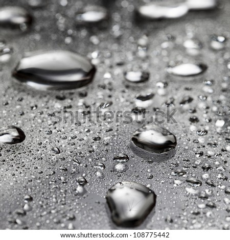 Water droplets macro close up - stock photo