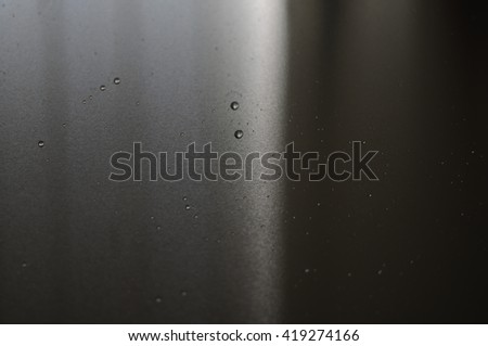 Water Droplets on aluminum surface,abstract background   - stock photo