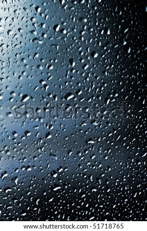 Water droplets on colored background