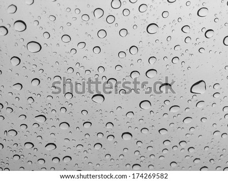 Water droplets on the glass,rain drops background - stock photo