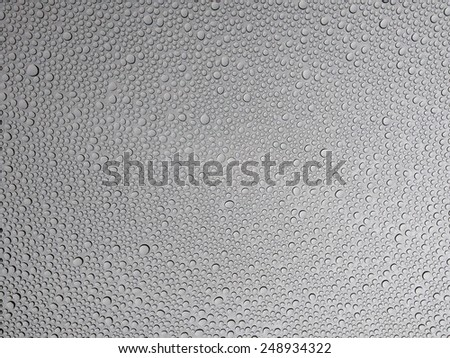 Water Droplets on Window - stock photo