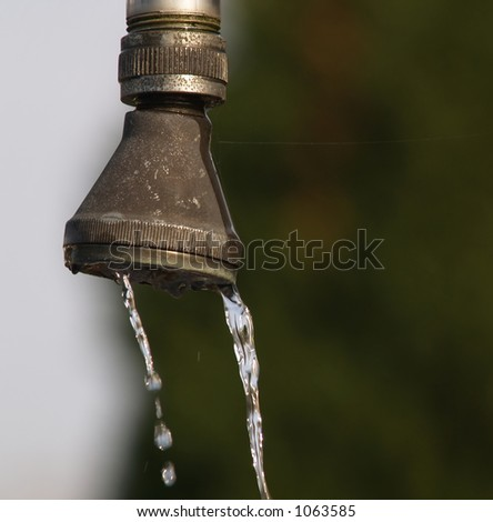 Water dropping - stock photo