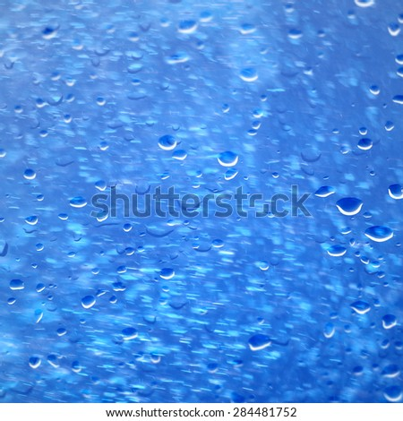 Water drops and splashes background - stock photo