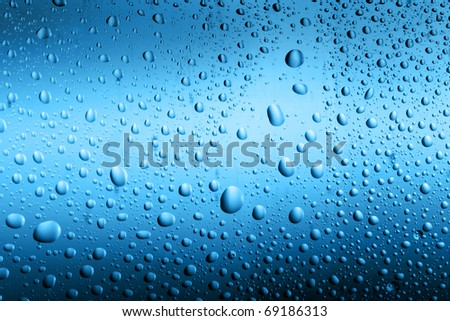 Water drops background - stock photo