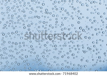 Water drops background in horizontal composition