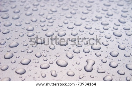 Water Drops background with big and small drops