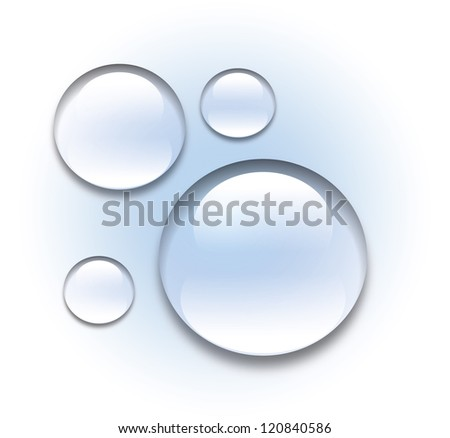 Water drops bubbles illustration - stock photo