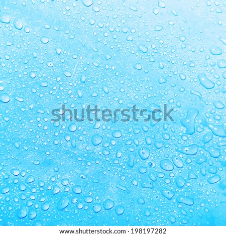 Water drops close-up - stock photo