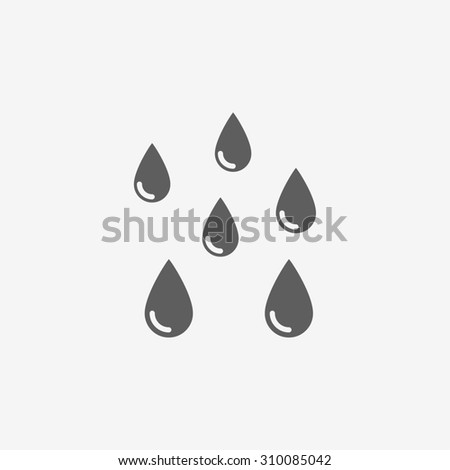 water drops icon - stock photo