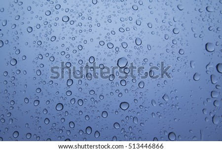 Water drops on a blue background